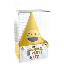 Buy Emojinal Party Hats, Pack of 10 Online at johnlewis.com