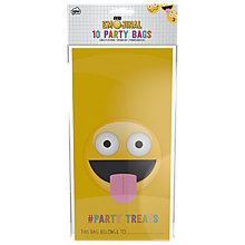 Buy Emojinal Party Treat Bags, Pack of 10 Online at johnlewis.com