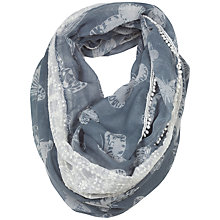 Buy Fat Face Butterfly Bead Lace Trim Snood Scarf, Green Online at johnlewis.com