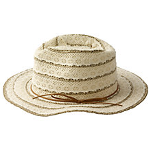 Buy Fat Face Lace Trilby Hat, Cream Online at johnlewis.com