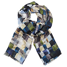 Buy John Lewis Beautiful Squares Print Scarf, Multi Online at johnlewis.com