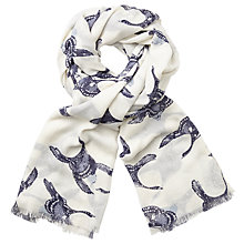 Buy John Lewis Flying Geese Print Scarf, Midnight/White Online at johnlewis.com