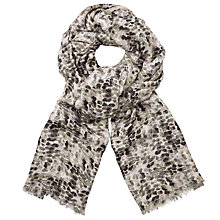 Buy John Lewis Brushstroke Print Scarf, Grey Mix Online at johnlewis.com