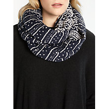 Buy John Lewis Loopey Textured Snood, Navy Online at johnlewis.com
