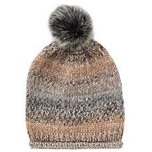 Buy John Lewis Glitter Yarn Pom Beanie Hat, Teal Online at johnlewis.com