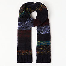 Buy John Lewis New Nordic Sky Scarf, Navy Online at johnlewis.com