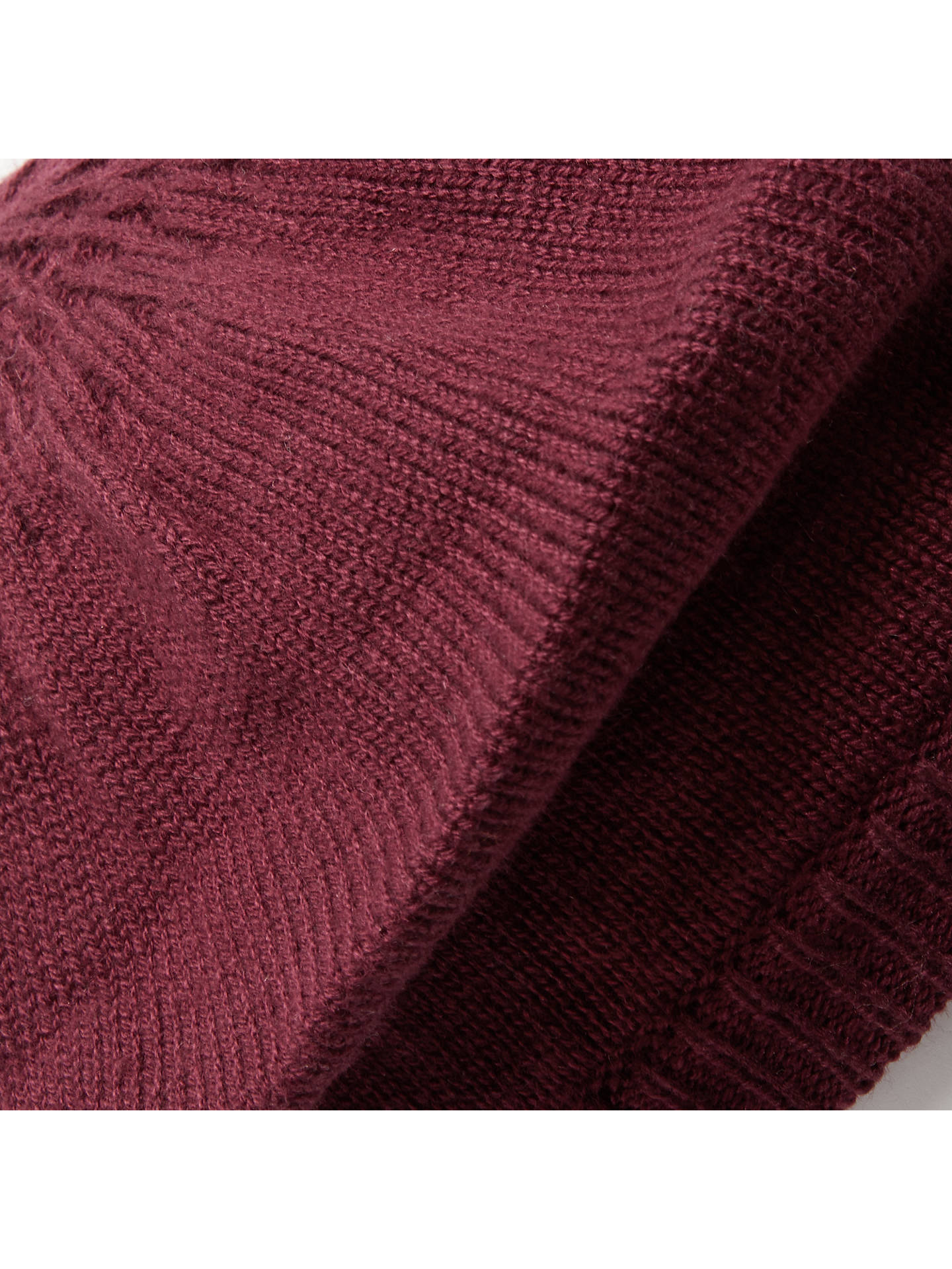 BuyJohn Lewis & Partners Plain Knit Beret, Claret Online at johnlewis.com