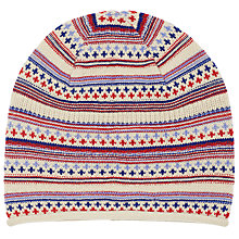 Buy John Lewis Textured Pattern Beanie Hat Online at johnlewis.com