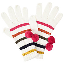 Buy John Lewis 70s Stripe Gloves, One Size, Cream Online at johnlewis.com