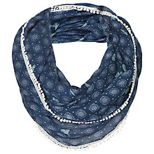 Buy Fat Face Geo Butterfly Print Snood, Navy Online at johnlewis.com