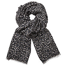 Buy John Lewis Animal Spot Scarf, Charcoal Online at johnlewis.com