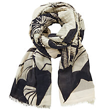 Buy Kin by John Lewis Kimono Knot Floral Print Scarf, Black/Cream Online at johnlewis.com