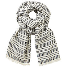 Buy John Lewis Moroccan Stripe Scarf, Black/White Online at johnlewis.com