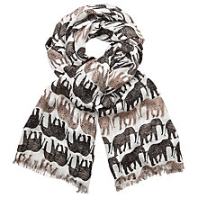 Buy John Lewis Elephant Print Scarf, Natural/Multi Online at johnlewis.com