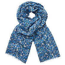 Buy John Lewis Ditsy Print Scarf, True Blue Online at johnlewis.com