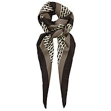 Buy John Lewis Animal Print Silk Square Scarf, Taupe Online at johnlewis.com