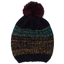 Buy John Lewis New Nordic Sky Pom Beanie, Navy Online at johnlewis.com