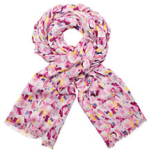 Buy John Lewis Pretty Painter's Palette Print Scarf, Pink Mix Online at johnlewis.com