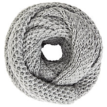 Buy John Lewis Wool Blend Chunky Lovely Snood, Light Grey Online at johnlewis.com