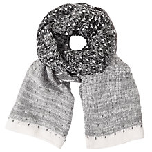 Buy John Lewis Ombre Dotty Scarf, Grey Online at johnlewis.com