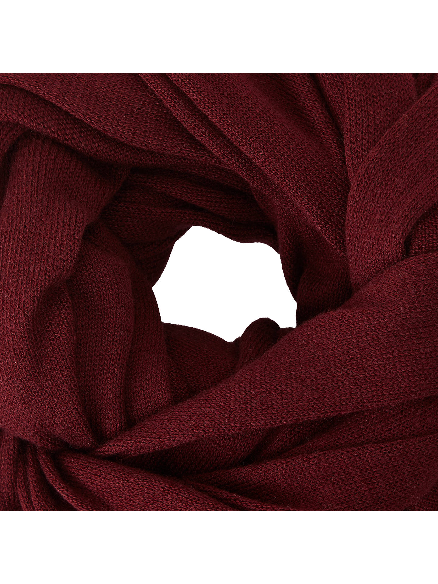 BuyJohn Lewis & Partners Plain Knit Scarf, Claret Online at johnlewis.com