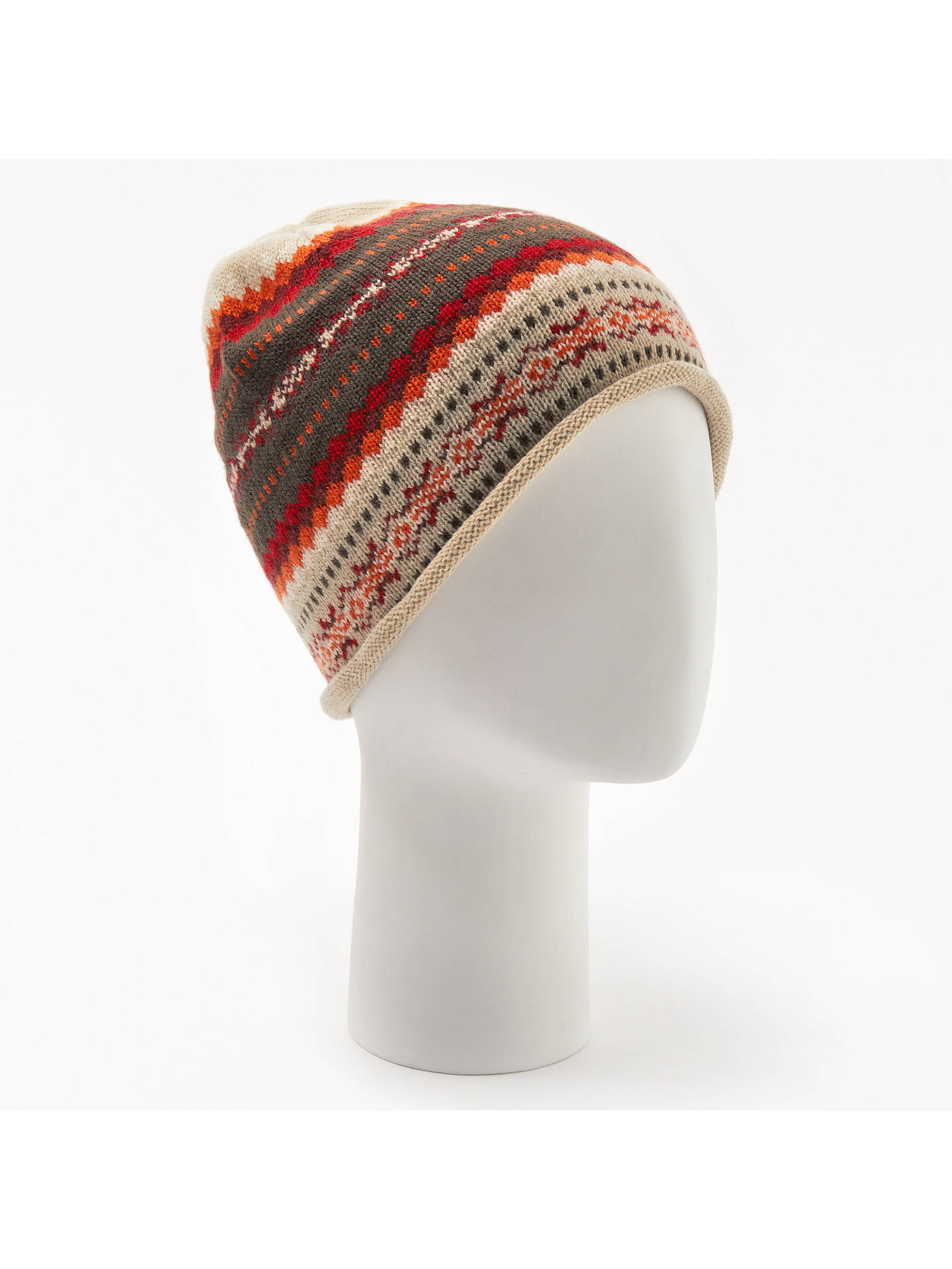 BuyJohn Lewis & Partners Sweet Fair Isle Beanie, Red Mix Online at johnlewis.com
