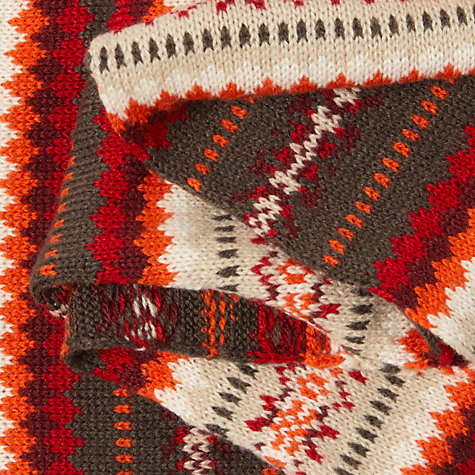 Buy John Lewis Sweet Fair Isle Snood, Red Mix | John Lewis