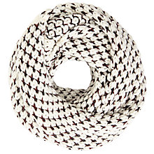 Buy John Lewis Two Tone Chunky Snood, Cream Online at johnlewis.com