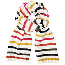 Buy John Lewis 70s Stripe Scarf, Cream Online at johnlewis.com