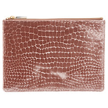 Buy Whistles Velvet Croc Medium Clutch Bag Online at johnlewis.com
