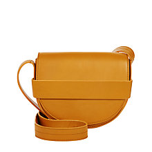 Buy Jaeger Leather Mini Saddle Bag, Orange Online at johnlewis.com