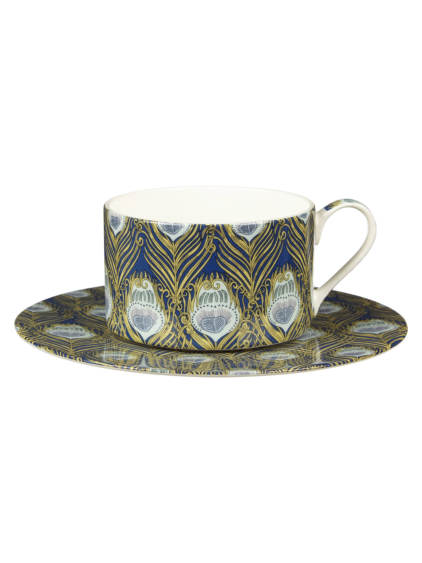 BuyLiberty Fabrics & John Lewis Caesar Cup and Saucer, 280ml, Rich Blue Online at johnlewis.com