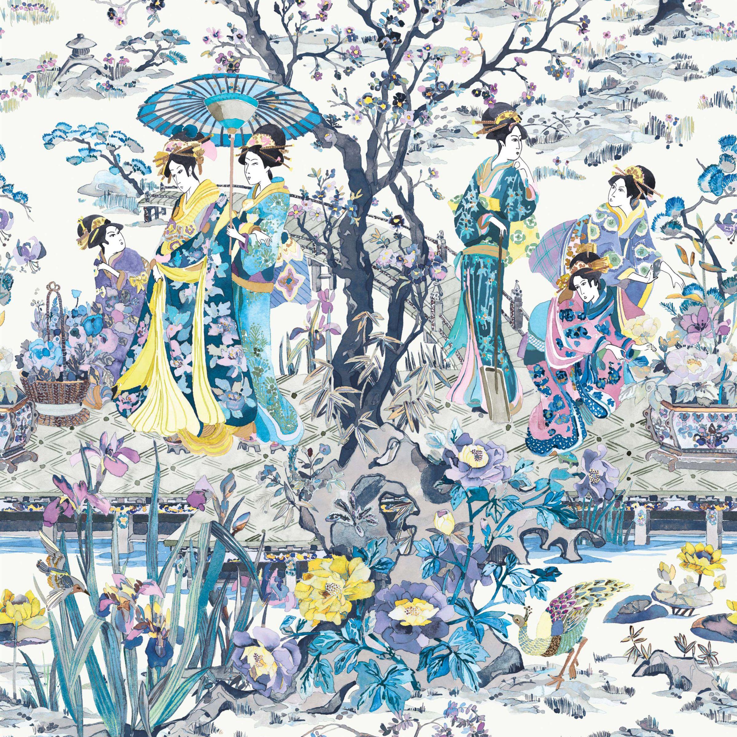 Buy Osborne Little Japanese Garden Wallpaper John Lewis