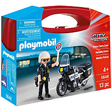 Buy Playmobil Police Carry Case Online at johnlewis.com