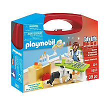 Buy Playmobil City Life Vet Visit Carry Case Online at johnlewis.com