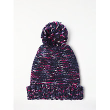 Buy AND/OR Pom Pom Beanie Hat, Midnight/Multi Online at johnlewis.com