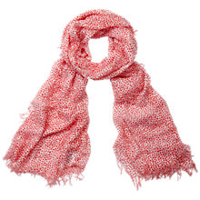 Buy Pure Collection Animal Print Scarf, Red Online at johnlewis.com