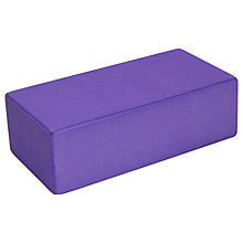 Buy Yoga-Mad Yoga Brick, Purple Online at johnlewis.com