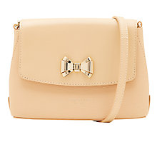 Buy Ted Baker Tessi Curved Bow Leather Across Body Bag Online at johnlewis.com