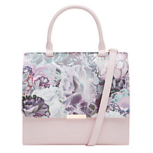 Buy Ted Baker Jacy Illuminated Bloom Leather Across Body Bag, Purple Online at johnlewis.com