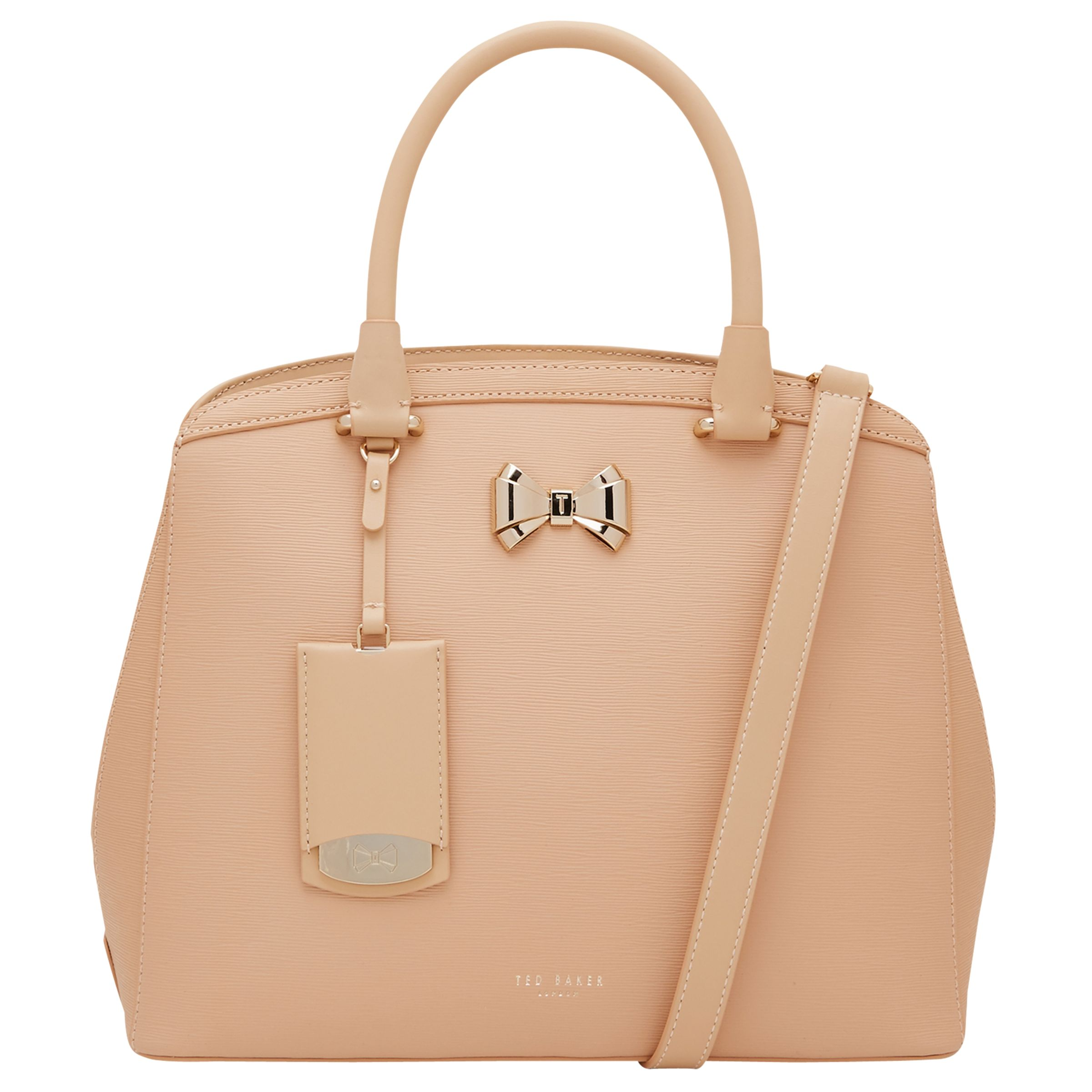 81099b17f59ec Ted Baker Tealia Curved Bow Small Leather Tote Bag at John Lewis   Partners