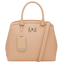 Buy Ted Baker Tealia Curved Bow Small Leather Tote Bag Online at johnlewis.com