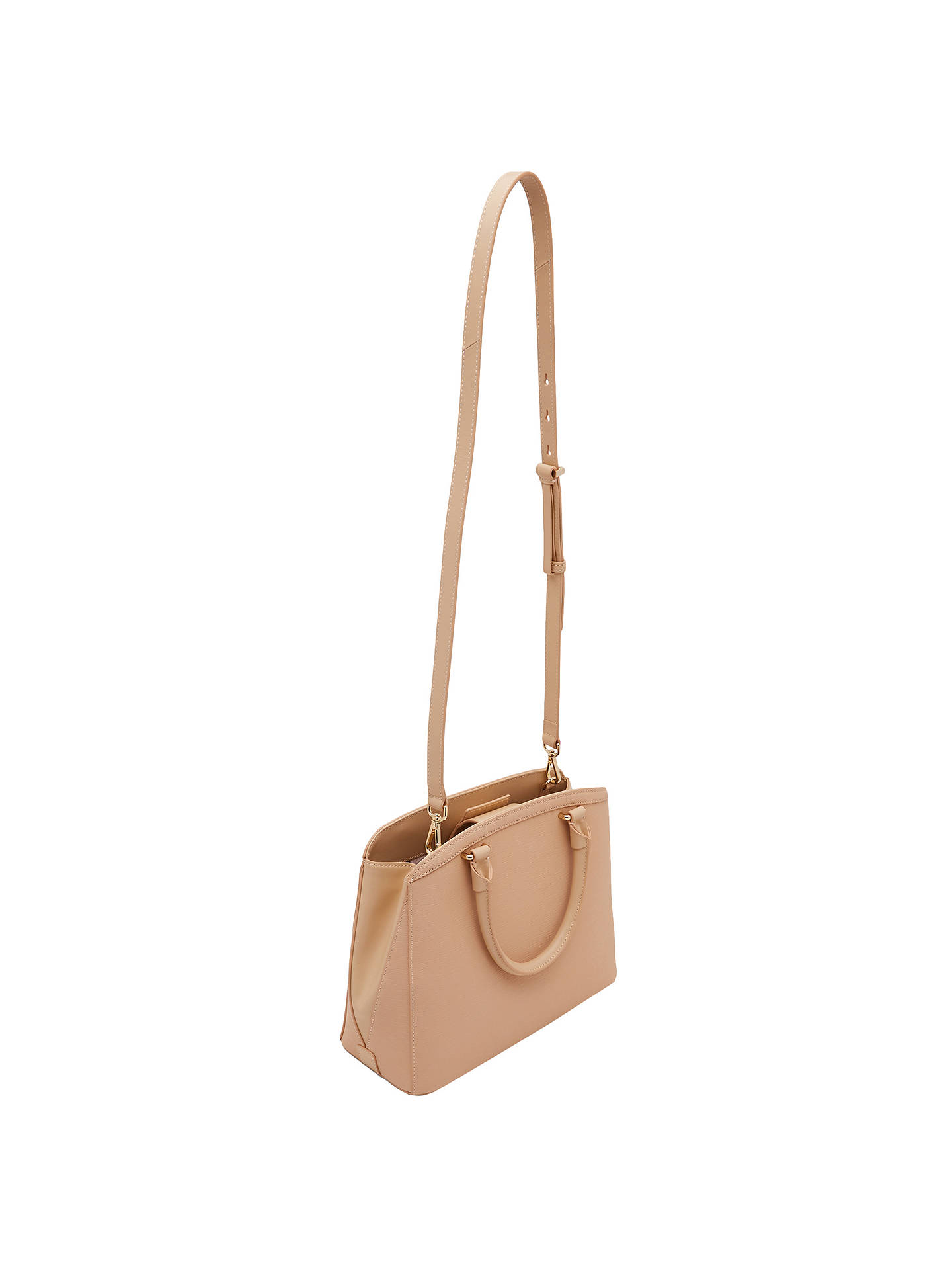 003930594d081 Ted Baker Tealia Curved Bow Small Leather Tote Bag at John Lewis ...