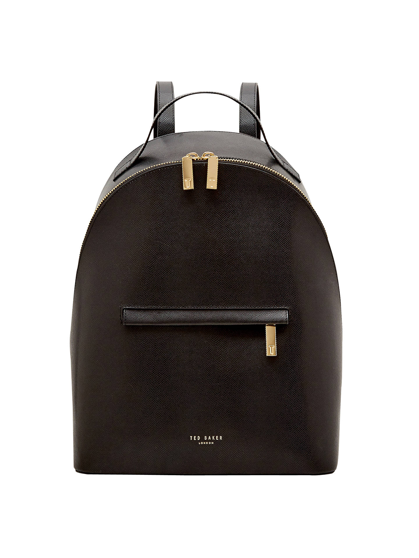 50a61ac72 Ted Baker Jarvis Leather Backpack at John Lewis   Partners