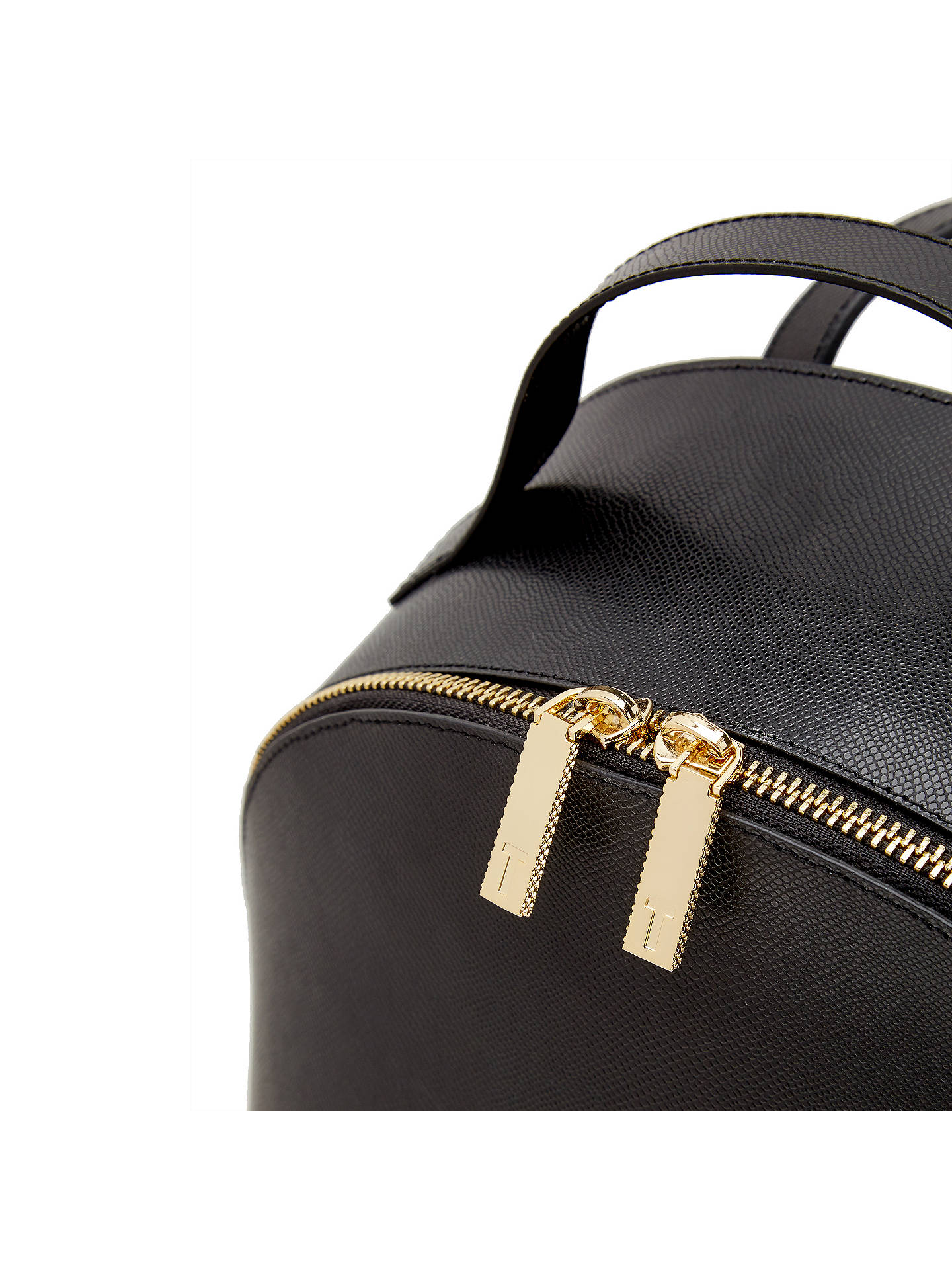 50b6e0486d342 Ted Baker Jarvis Leather Backpack at John Lewis   Partners