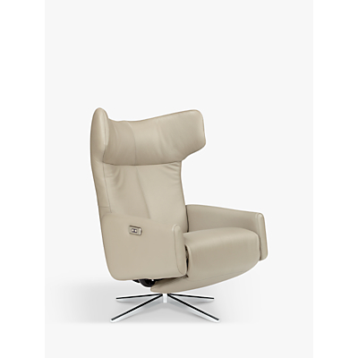 John Lewis & Partners Dane Electric Recliner Armchair, Metal Leg, Royal Taupe Leather