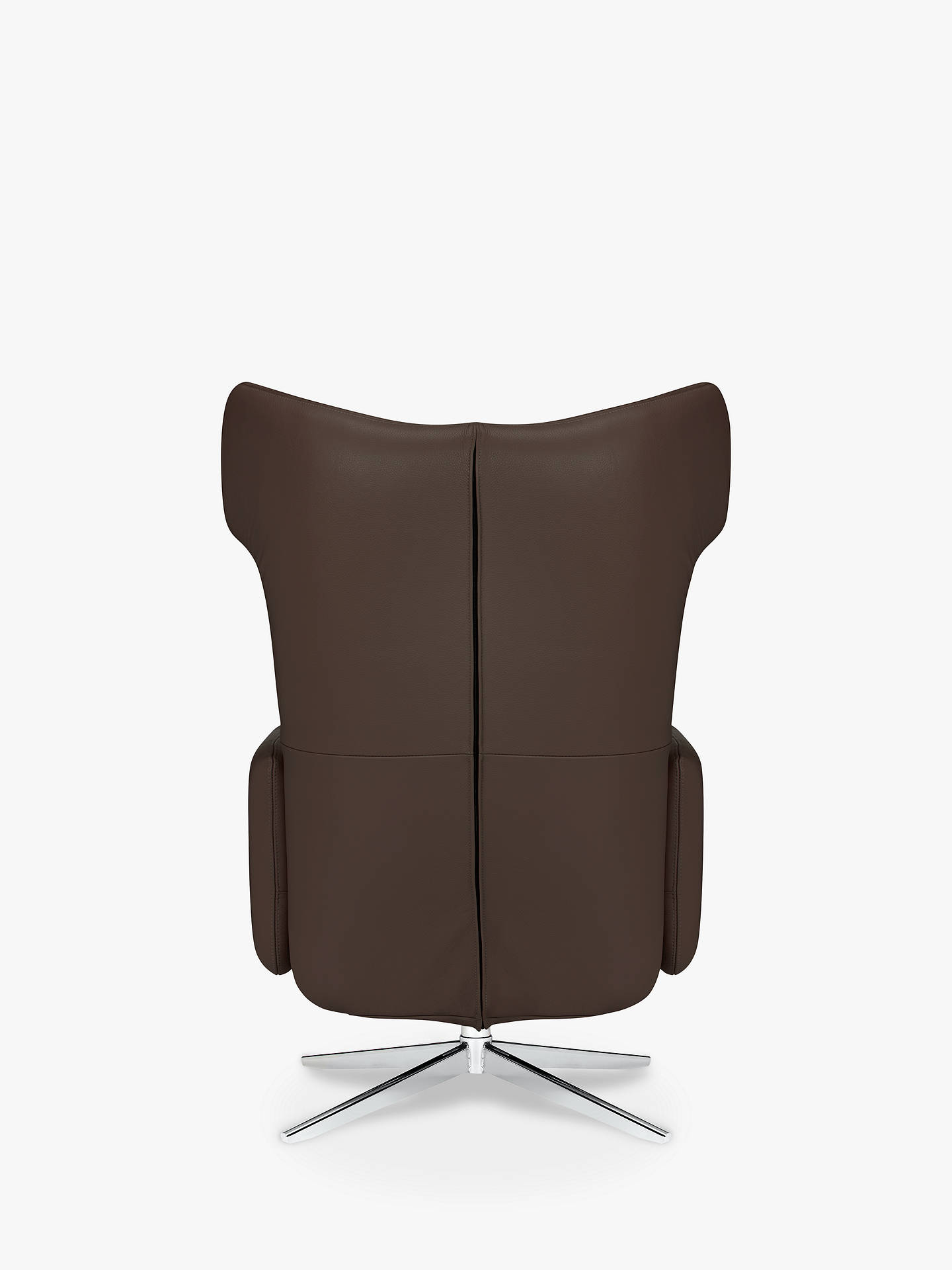 BuyJohn Lewis & Partners Dane Electric Recliner Armchair, Metal Leg, Royal Brown Leather Online at johnlewis.com
