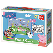 Buy Peppa Pig Puzzle & Colouring Set Online at johnlewis.com