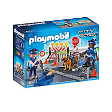 Buy Playmobil City Action Police Roadblock Online at johnlewis.com