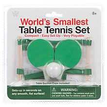Buy World's Smallest Table Tennis Set Online at johnlewis.com